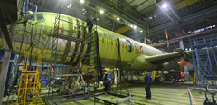 TsAGI continues repeated static tests of MS-21 aircraft stabilizer