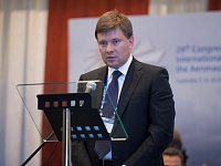 Andrey Boginsky, Head of aviation industry department of Minpromtorg, speaking at the Congress Closing Ceremony