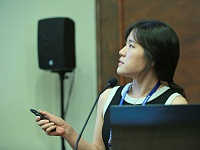 Speech by a female representative of the Seoul National University (South Korea).