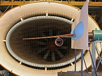Short-haul aircraft MC-21 half-model tests on aeroelasticity in wind tunnel T-103.